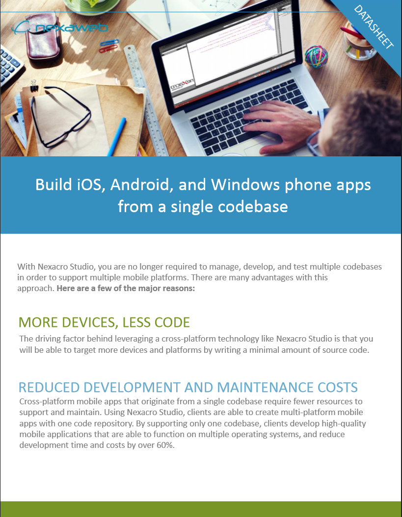 Build iOS, Android, and Windows Phone Apps from a Single Codebase